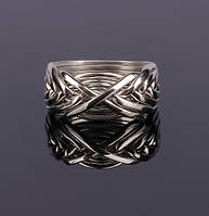 Женское серебряное кольцо-головоломка от Wickerring, фото 1