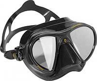 Маска подводного охотника Cressi Sub Nano Black HD зеркальные стёкла