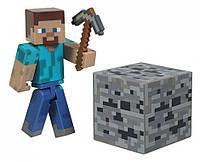 "Майнкрафт ""фигурка Стива с аксессуарами"" (Minecraft Core Steve Action Figure with Accessory)"