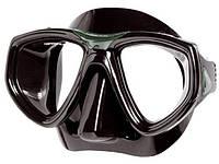 Маска для плавания Seac Sub One чёрно-зелёная