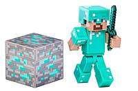 "Майнкрафт ""Стив в алмазной броне"" (Minecraft Diamond Steve Action Figure)"