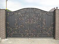 Кованые распашные ворота, код: 01041