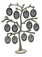 Дерево фоторамка на 12 фото, подарок для новорожденного