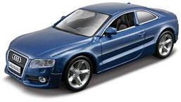 Автомодель Audi A5 Bburago (синий металлик, красный, 1:32)