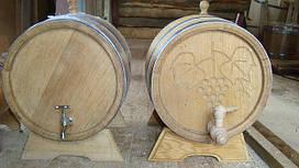 Бочка дубовая для вина, коньяка (нерж) 50л