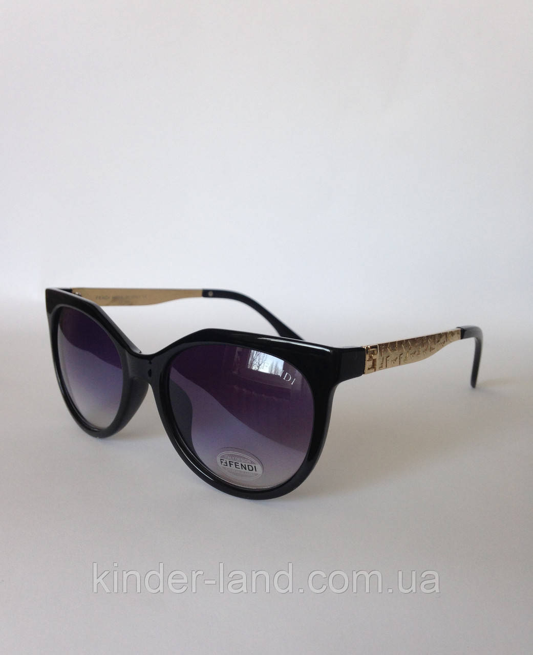 0529e50490be Женские солнцезащитные очки Fendi 324 черные - Интернет-магазин