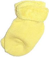 Махровые носки для новорожденных желтого цвета
