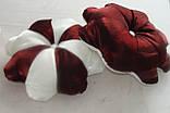 Подушка цветок бордо и слоновая кость, фото 4