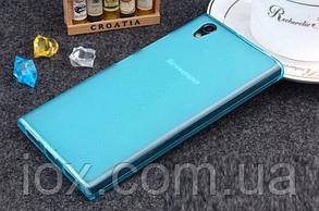 Силиконовый голубой чехол для Lenovo P70