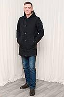 Мужская демисезонная удлиненная куртка RZZ черная