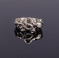 Серебряное кольцо головоломка «Кобра» от Wickerring