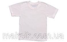 Детская белая футболка р.80-122