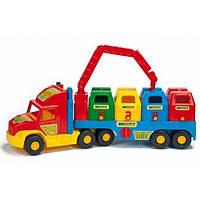 Машинка игрушечная Мусоровоз большой серии Super Truck 36530 Wader, фото 1