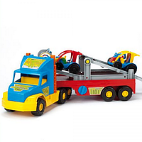 Машинка игрушечная большая Тягач-автовоз из серии Super Truck 36630 Wader