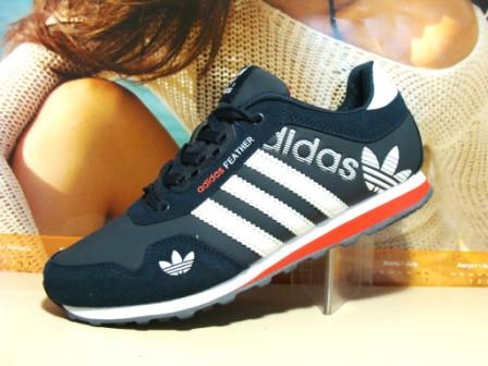Кроссовки для бега Adidas FEATHER (реплика) сине-белые 41 р.