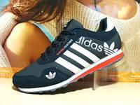 Кроссовки для бега Adidas FEATHER сине-белые 41 р.