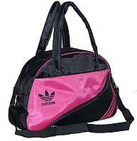 Спортивная сумка для фитнеса Adidas, Адидас черная с розовым ( код: IBS004BP )