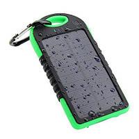 Solar Power Bank 5000mAh, внешний аккумулятор с солнечной панелью