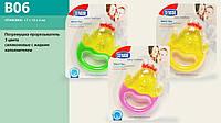 Детская игрушка погремушка-прорезыватель B06  силиконовые, с жидким наполнителем
