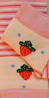 Комплект для дівчаток: футболки, шкарпетки (колір рожевий), ріст 86-92 см