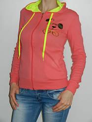 Толстовка женская с капюшоном