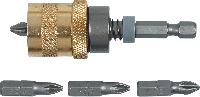 Держатель для наконечников, 1/4, 65 мм, набор 5 шт., Topex, 39D339
