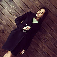 Женское кашемировое пальто на пуговках под пояс АБ 0307