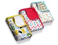 Одеяло хлопковое двухслойное Babyono, 3 вида, 75х100см