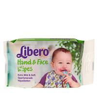 Libero Hand & Face Влажные салфетки 20 шт