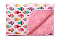 Двустороннее одеяло из микрофибры Babyono Розовый 75х100см
