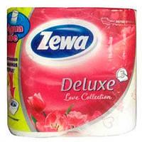 Zewa Deluxe Love Collection «Белая» Трехслойная туалетная бумага 4 рулона