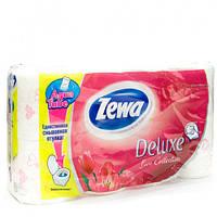 Zewa Deluxe Love Collection «Белая» Трехслойная туалетная бумага 8 рулонов