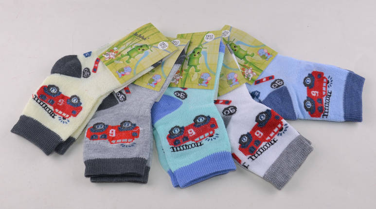 Детские носки Машинки р.18-20 (Y017-3/18-20) | 12 пар, фото 2