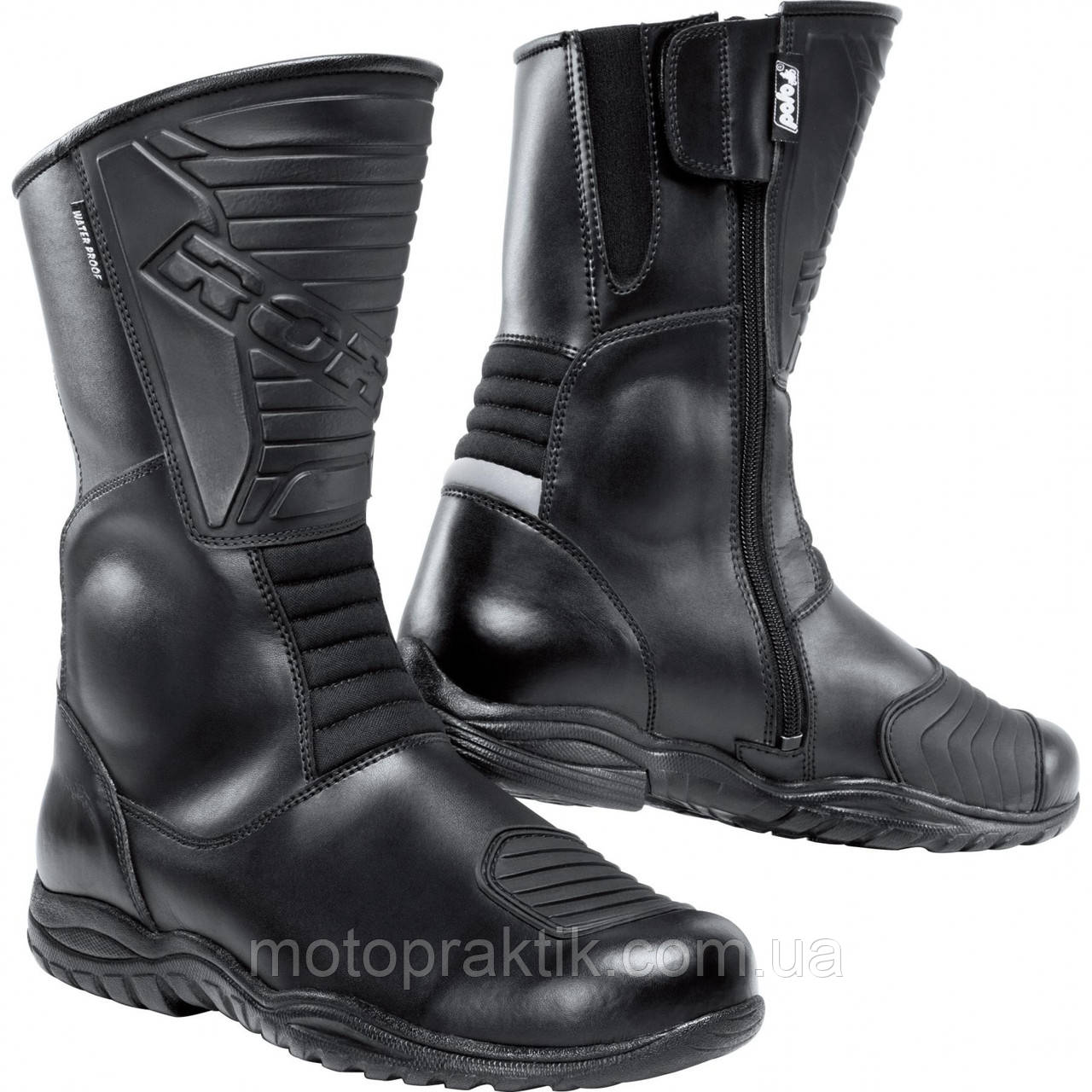 Road  Touring leather boots 1.0 Black, 36 Мотоботы дорожные