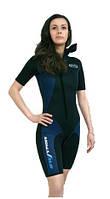Женский гидрокостюм короткий Sigma Sub (миникомбинезон со шлемом)
