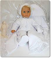 Набор для крещения Жемчужинка человечек, шапка и крыжма.