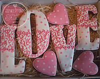 """Пряничный набор """"LOVE""""-оригинальный подарок на 14 февраля, фото 1"""