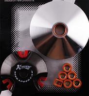 Вариатор передний (тюнинг) Yamaha JOG 50 (d-13mm, медно-графитовая втулка, ролики 8г латунь) KOSO
