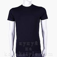 Однотонна чорна футболка, фото 1