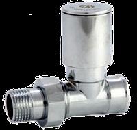 """Кран для радиатора прямой 1/2"""" подача хром ASCO Armatura"""