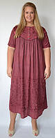 Платье вишневое с рукавом, на 56-62 размеры