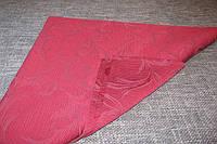 Салфетка 45х45 Ткань Листья Бордо