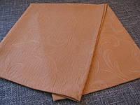 Салфетка 50х50 Ткань Листья Золото, фото 1