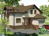 Строительство дома из сип панелей 213,81 м.кв., «ПРАГА»