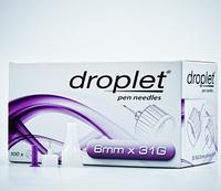 Иглы для инсулиновых шприц-ручек Droplet (6mm x 31G)  100 шт