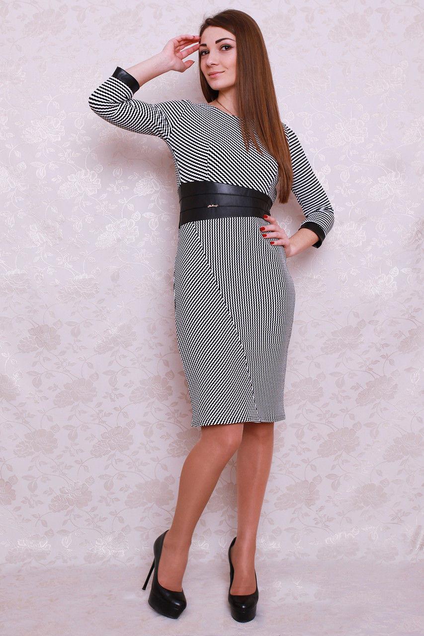 Трикотажное платье с пояском