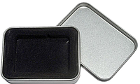 Коробка для бензин. зажигалки 24599 подарочная, аллюминий, с блистером