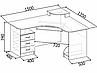 Компьютерный угловой стол СУ-103, фото 2