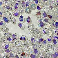 Бусины Swarovski Биконус Crystal AB 6mm* 1шт