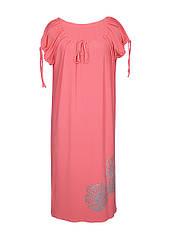Прямое трикотажное платье Маки